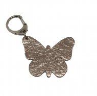 Kožený přívěsek motýl FACEBAG - Zlatá