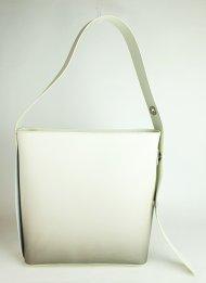 Dámská italská kožená kabelka 3305 - Smetanová hladká