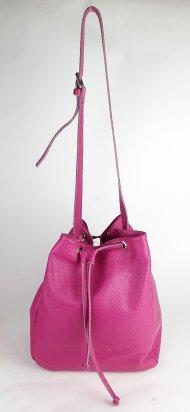 Dámská italská kožená kabelka 2716 - Fuchsiová *dolaro*