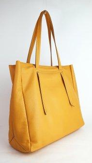 Kožená kabelka Claire oranžová vintage