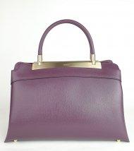 Luxusní dámská kožená kabelka RIPANI 8713 JJ 052 CALATEA - Vínová *safiano*