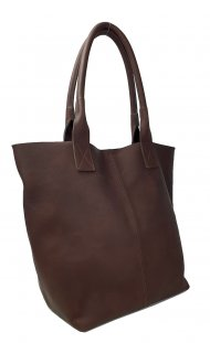 Dámská kožená kabelka FACEBAG ERNA - Tmavá hnědá *vintage*