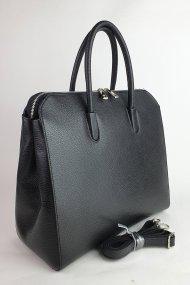 Dámská italská kožená kabelka MIX D - Černá *dolaro*
