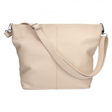 Italská kožená kabelka DINA - Pudrová