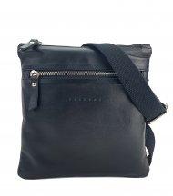 Pánská kožená taška FACEBAG PEPE 1 - Černá hladká