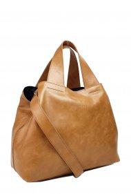 Dámská kožená kabelka FACEBAG SOFI - Cuoio *vintage*