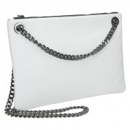 Elegantní dámská kožená kabelka FACEBAG ERIN - Bílá *dolaro*