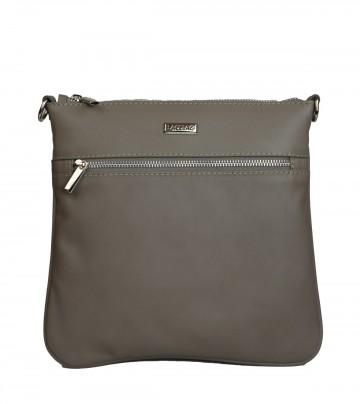 Dámská kožená kabelka FACEBAG VILMA - Taupe