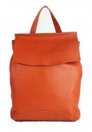 Designový kožený batůžek FACEBAG KENNY 8018 - Oranžová *dolaro*