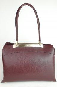 Luxusní dámská kožená kabelka RIPANI 8712 JJ 010 CALATEA - Vínová *safiano*