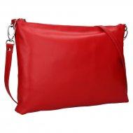 Dámská kožená kabelka FACEBAG SALLY - Červená hladká