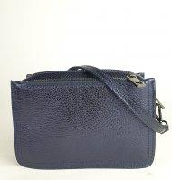 Dámská italská kožená kabelka 546049 - Metalická modrá *dolaro*