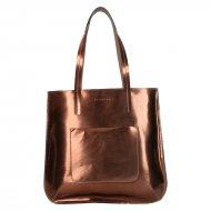 Dámská kožená kabelka FACEBAG CANNES - Bronzová lak