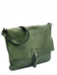 Kožená kabelka 5194 zelená vintage