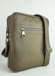 Pánská kožená taška FACEBAG MARTIN - Taupe hladká