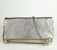 Dámská italská kožená kabelka 12111 - Tmavá zlatá