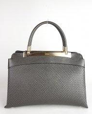 Luxusní dámská kožená kabelka RIPANI 8711 JO 078 CALATEA - Metalická tmavá šedá