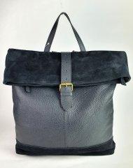 Dámský italský kožený batoh 3193 - Černá *dolaro*