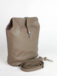 Dámská kožená kabelka FACEBAG ANNA - Taupe hladká