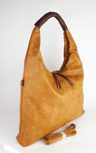 Dámská italská koženková kabelka MIX VI. - Tmavá žlutá