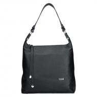 Dámská kožená kabelka FACEBAG TARA - Černá