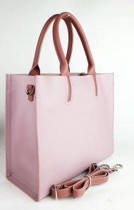Dámská kožená kabelka FACEBAG LUSSA - Liliová + starorůžová *ruga*