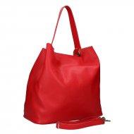 Dámská kožená kabelka FACEBAG BETH - Červená *dolaro*