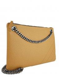 Elegantní dámská kožená kabelka FACEBAG ERIN - Cuoio *dolaro*