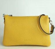Dámská italská kožená kabelka RIPANI 7086 OJ 011 EASY BAG - Tmavá žlutá *dolaro*