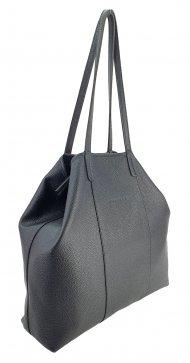 Dámská kožená kabelka FACEBAG MIA - Černá *dolaro*