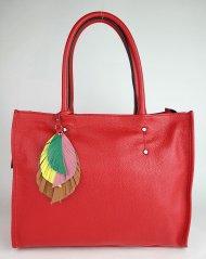 Dámská italská kožená kabelka RIPANI 9143 OO 055 SULA - Červená *dolaro*