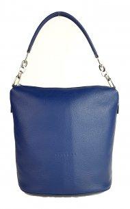 Kožená kabelka FACEBAG MOLY - Modrá *dolaro*