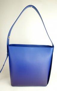 Dámská italská kožená kabelka 3305 - Modrá hladká