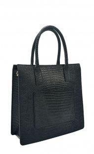 Kožená kabelka Alma černá