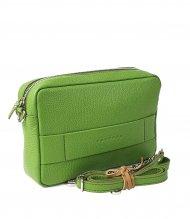 Dámská kožená kabelka FACEBAG NINA - Zelená *dolaro*