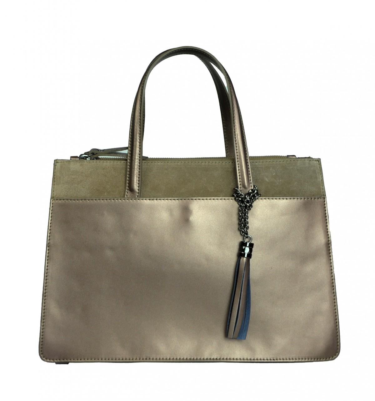 Italská kožená kabelka VALERIE - Zlatá