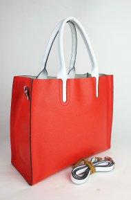 Dámská kožená kabelka FACEBAG LUSSA - korálová *palmelato*