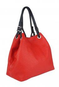 Luxusní dámská kožená kabelka FACEBAG LAURA - Červená *dolaro*