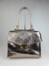 Dámská italská kožená kabelka 5503 - Zlatá