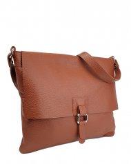 Dámská kožená kabelka FACEBAG LUCY - Cuoio *dolaro*