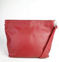 Dámská italská kožená kabelka 3147 - Tmavá červená *dolaro*