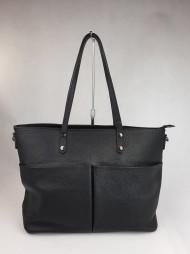 Dámská italská kožená kabelka 2183 - Černá
