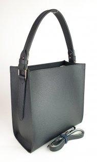Dámská kožená kabelka FACEBAG ANGE - Černá oboustranná *dolaro*