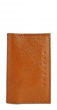 Kožené pouzdro na doklady FACEBAG 115057 - Světle hnědá vintage