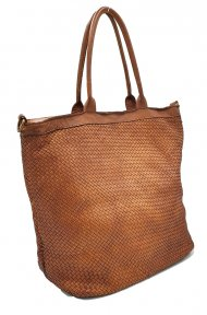 Kožená kabelka 2201 tmavá cuoio vintage
