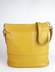 Dámská kožená kabelka FACEBAG FUDA - Tmavá žlutá *dolaro*