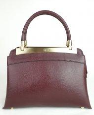 Luxusní dámská kožená kabelka RIPANI 8711 JJ 052 CALATEA - Vínová *safiano*