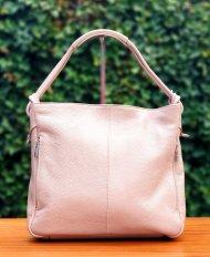Dámská italská kožená kabelka 3078 - Pudrová