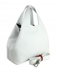 Dámská kožená kabelka FACEBAG SOFI - bílá