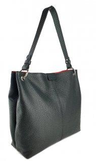 Dámská kožená kabelka FACEBAG LILLE - Černá *dolaro*